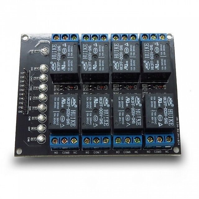 8 Channels 5V Relay Module - Click Image to Close